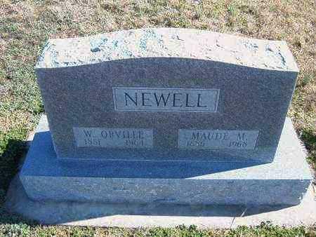 NEWELL, MAUDE M - Gray County, Kansas | MAUDE M NEWELL - Kansas Gravestone Photos