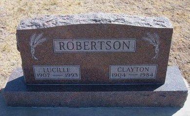 ROBERTSON, LUCILLE - Gray County, Kansas   LUCILLE ROBERTSON - Kansas Gravestone Photos