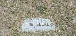 SEEKER, MR - Gray County, Kansas | MR SEEKER - Kansas Gravestone Photos