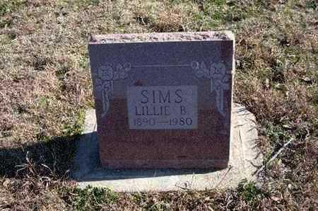 SIMS, LILLIE B - Gray County, Kansas | LILLIE B SIMS - Kansas Gravestone Photos