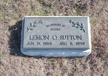 SUTTON, LEMON O - Gray County, Kansas | LEMON O SUTTON - Kansas Gravestone Photos