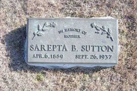 SUTTON, SAREPTA BELL - Gray County, Kansas | SAREPTA BELL SUTTON - Kansas Gravestone Photos