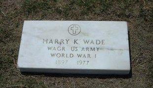 WADE, HARRY KIRKLAND    (VETERAN WWI) - Gray County, Kansas   HARRY KIRKLAND    (VETERAN WWI) WADE - Kansas Gravestone Photos
