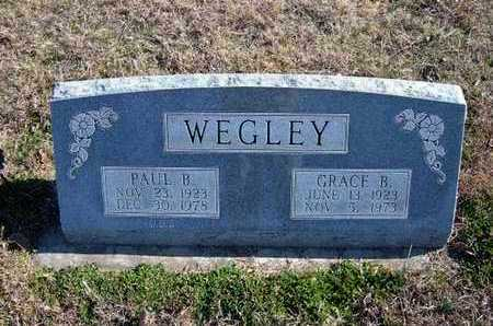 WEGLEY, GRACE B - Gray County, Kansas | GRACE B WEGLEY - Kansas Gravestone Photos