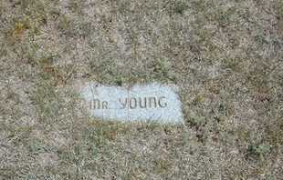 YOUNG, MR - Gray County, Kansas | MR YOUNG - Kansas Gravestone Photos