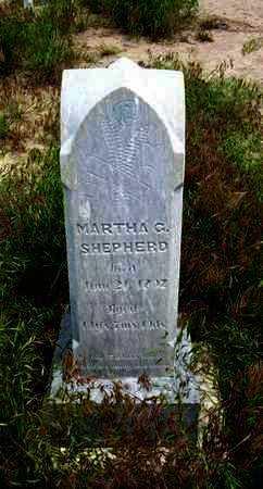 SHEPERD, MARTHA G - Greeley County, Kansas   MARTHA G SHEPERD - Kansas Gravestone Photos
