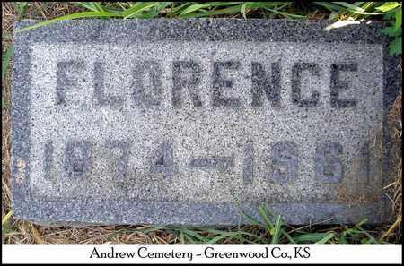 ANDREW, FLORENCE A - Greenwood County, Kansas   FLORENCE A ANDREW - Kansas Gravestone Photos