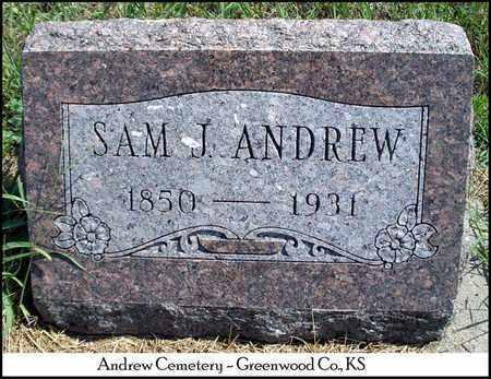 ANDREW, SAM J - Greenwood County, Kansas   SAM J ANDREW - Kansas Gravestone Photos
