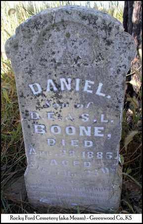 BOONE, DANIEL - Greenwood County, Kansas | DANIEL BOONE - Kansas Gravestone Photos