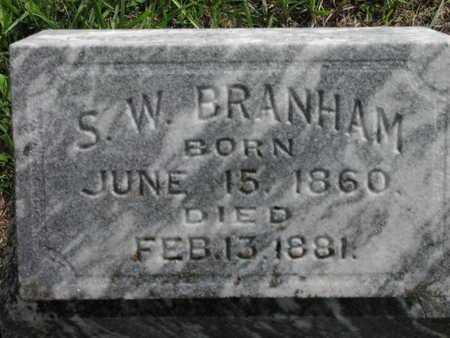 BRANHAM, SAMUEL WARD - Greenwood County, Kansas   SAMUEL WARD BRANHAM - Kansas Gravestone Photos