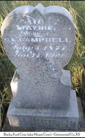 CAMPBELL, MAYNIE - Greenwood County, Kansas | MAYNIE CAMPBELL - Kansas Gravestone Photos