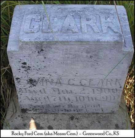 CLARK, LAVINA C - Greenwood County, Kansas | LAVINA C CLARK - Kansas Gravestone Photos