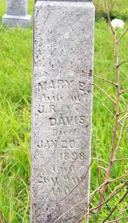 DAVIS, MARY E - Greenwood County, Kansas   MARY E DAVIS - Kansas Gravestone Photos