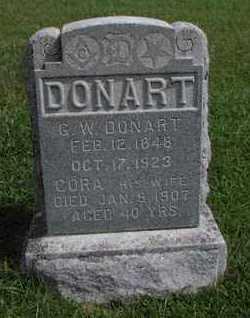 DONART, CORA A - Greenwood County, Kansas | CORA A DONART - Kansas Gravestone Photos