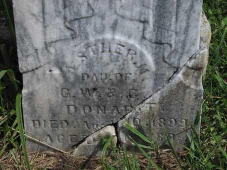 DONART, ESTHER M - Greenwood County, Kansas | ESTHER M DONART - Kansas Gravestone Photos