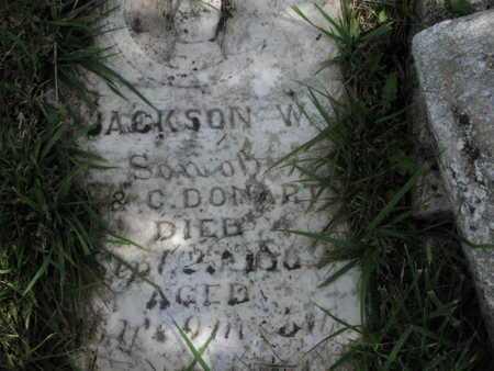 DONART, JACKSON WALLACE - Greenwood County, Kansas | JACKSON WALLACE DONART - Kansas Gravestone Photos