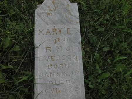 EVERSON, MARY E - Greenwood County, Kansas | MARY E EVERSON - Kansas Gravestone Photos