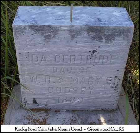 GODSEY, IDA GERTRUDE - Greenwood County, Kansas   IDA GERTRUDE GODSEY - Kansas Gravestone Photos
