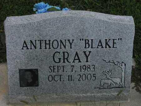 "GRAY, ANTHONY BLAKE ""BLAKE"" - Greenwood County, Kansas   ANTHONY BLAKE ""BLAKE"" GRAY - Kansas Gravestone Photos"
