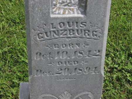 GUNZBURG, LOUIS - Greenwood County, Kansas | LOUIS GUNZBURG - Kansas Gravestone Photos