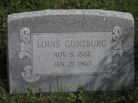 GUNZBURG, LOUIS, JR - Greenwood County, Kansas   LOUIS, JR GUNZBURG - Kansas Gravestone Photos