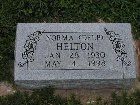 DELP HELTON, NORMA - Greenwood County, Kansas | NORMA DELP HELTON - Kansas Gravestone Photos