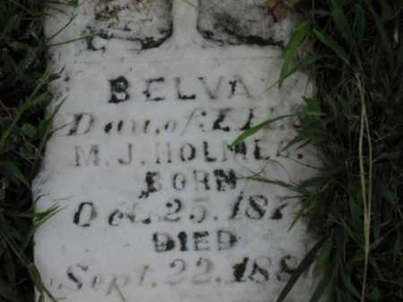 "HOLMES, BELVINE ""BELVA"" - Greenwood County, Kansas | BELVINE ""BELVA"" HOLMES - Kansas Gravestone Photos"