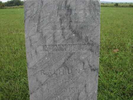 HUNT, MINNIE J - Greenwood County, Kansas   MINNIE J HUNT - Kansas Gravestone Photos