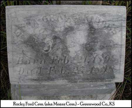 KNIBBS, EDNA GRACE - Greenwood County, Kansas   EDNA GRACE KNIBBS - Kansas Gravestone Photos