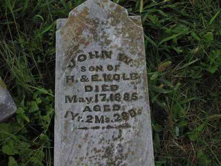 KOLB, JOHN W - Greenwood County, Kansas   JOHN W KOLB - Kansas Gravestone Photos