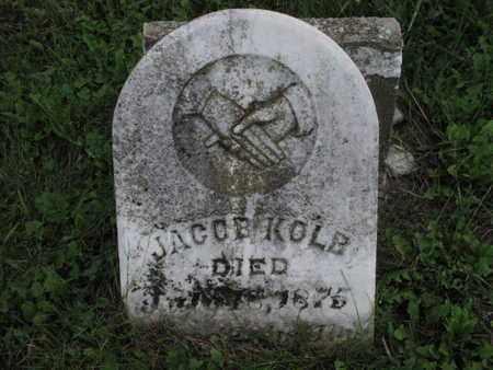 KOLB, JACOB - Greenwood County, Kansas | JACOB KOLB - Kansas Gravestone Photos