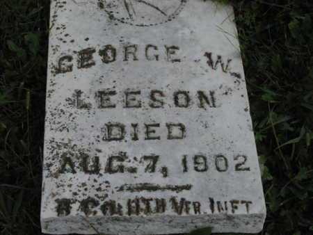 LEESON, GEORGE WASHINGTON   (VETERAN UNION) - Greenwood County, Kansas | GEORGE WASHINGTON   (VETERAN UNION) LEESON - Kansas Gravestone Photos