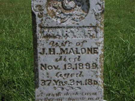 MALONE, MARY F - Greenwood County, Kansas   MARY F MALONE - Kansas Gravestone Photos