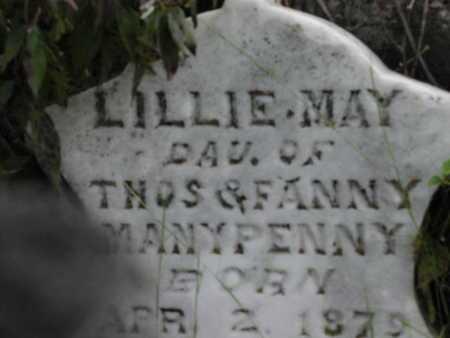 MANYPENNY, LILLIE MAY - Greenwood County, Kansas   LILLIE MAY MANYPENNY - Kansas Gravestone Photos