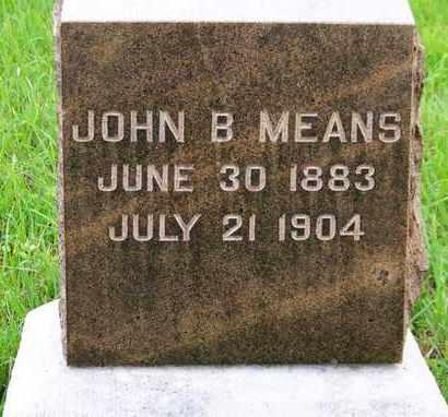 MEANS, JOHN B - Greenwood County, Kansas | JOHN B MEANS - Kansas Gravestone Photos