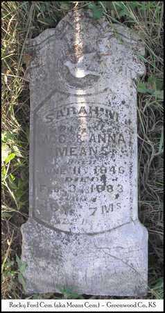 MEANS, SARAH M - Greenwood County, Kansas | SARAH M MEANS - Kansas Gravestone Photos