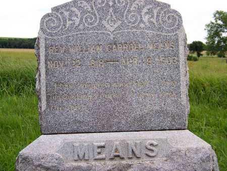 MEANS, WILLIAM, REV - Greenwood County, Kansas | WILLIAM, REV MEANS - Kansas Gravestone Photos
