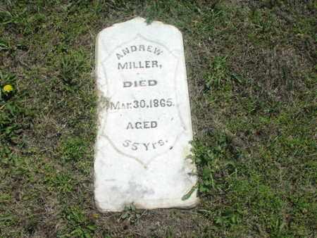 MILLER, ANDREW - Greenwood County, Kansas   ANDREW MILLER - Kansas Gravestone Photos