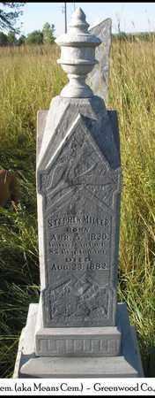 MILLER, STEPHEN, REV   (VETERAN UNION) - Greenwood County, Kansas | STEPHEN, REV   (VETERAN UNION) MILLER - Kansas Gravestone Photos