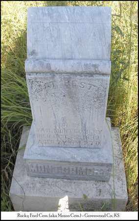 MONTGOMERY, JOHN - Greenwood County, Kansas | JOHN MONTGOMERY - Kansas Gravestone Photos