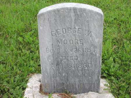 MOORE, GEORGE W - Greenwood County, Kansas   GEORGE W MOORE - Kansas Gravestone Photos