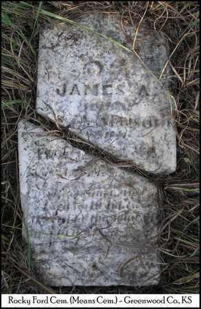 REED, JAMES A - Greenwood County, Kansas | JAMES A REED - Kansas Gravestone Photos