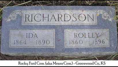 RICHARDSON, IDA - Greenwood County, Kansas | IDA RICHARDSON - Kansas Gravestone Photos