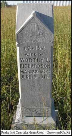 HEATON RICHARDSON, LOUISA - Greenwood County, Kansas | LOUISA HEATON RICHARDSON - Kansas Gravestone Photos