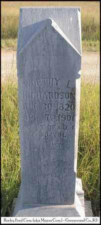 RICHARDSON, WORTHY LOVELL, MD  (VETERAN UNION) - Greenwood County, Kansas | WORTHY LOVELL, MD  (VETERAN UNION) RICHARDSON - Kansas Gravestone Photos