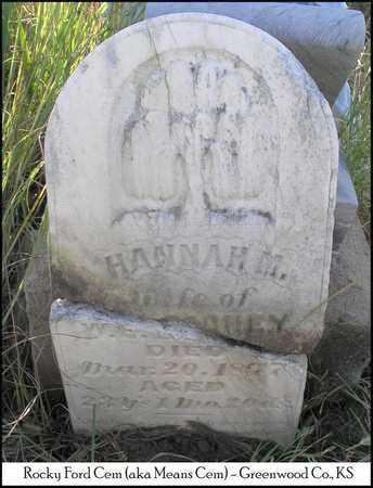 RICHEY, HANNAH M - Greenwood County, Kansas | HANNAH M RICHEY - Kansas Gravestone Photos