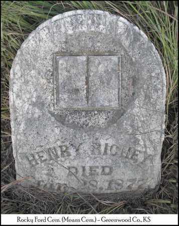 RICHEY, OSBOURNE HENRY - Greenwood County, Kansas   OSBOURNE HENRY RICHEY - Kansas Gravestone Photos