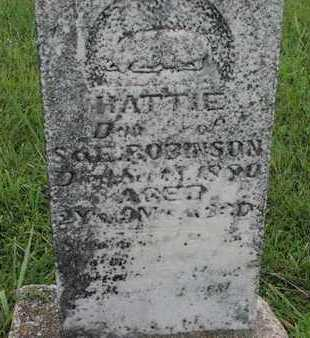 ROBINSON, HATTIE - Greenwood County, Kansas | HATTIE ROBINSON - Kansas Gravestone Photos