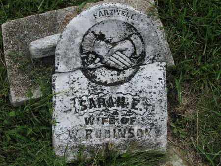 ROBINSON, SARAH E - Greenwood County, Kansas   SARAH E ROBINSON - Kansas Gravestone Photos