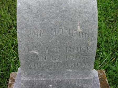 ROCK, ELWIN MONFORD - Greenwood County, Kansas | ELWIN MONFORD ROCK - Kansas Gravestone Photos